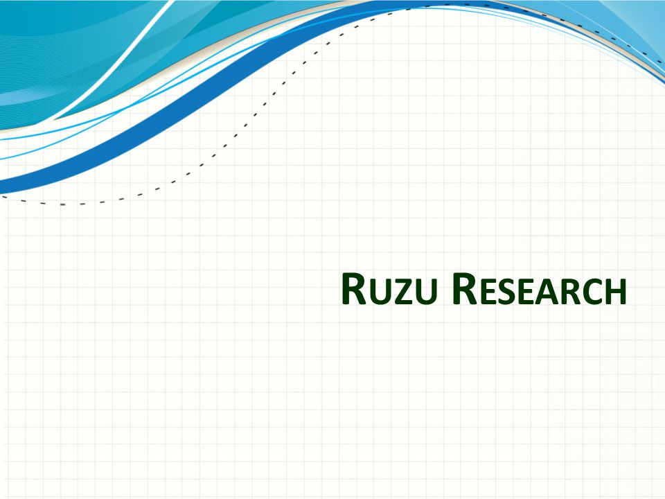 Ruzu Research Use a section header for each of the topics, so there is a clear transition to the audience.