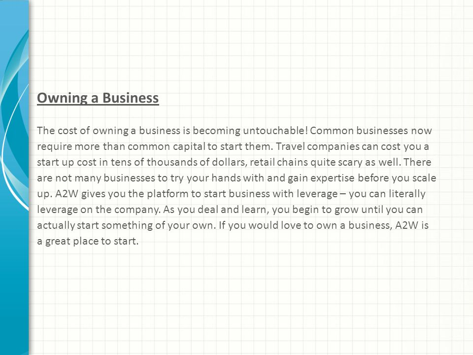 Owning a Business