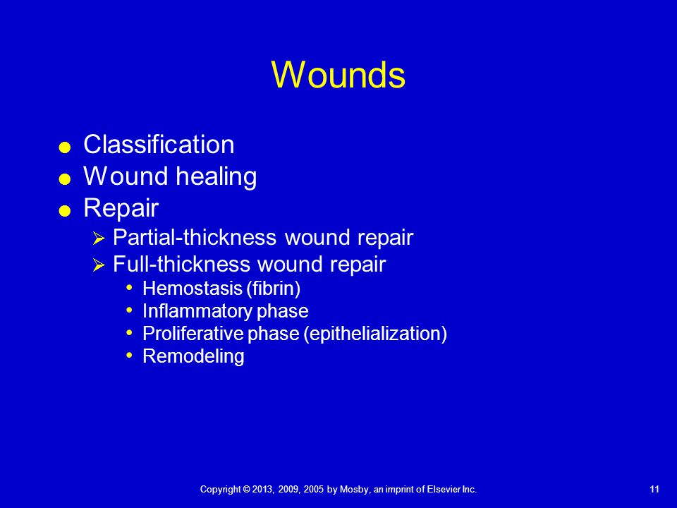 Wounds Classification Wound healing Repair