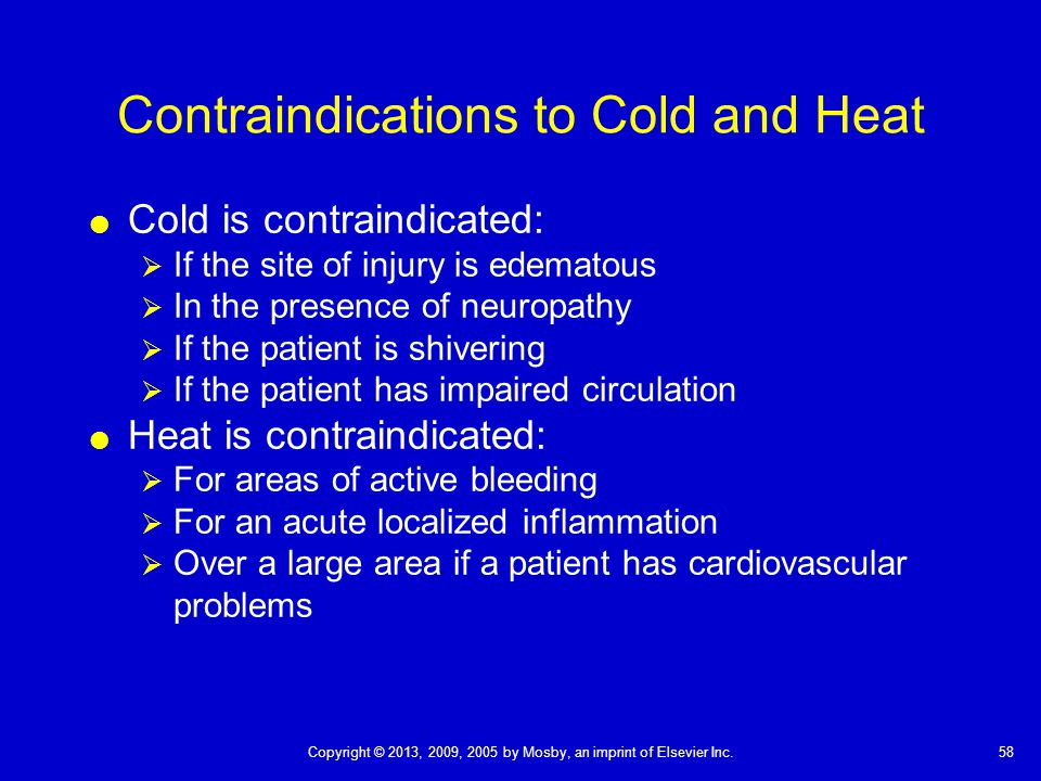 Contraindications to Cold and Heat
