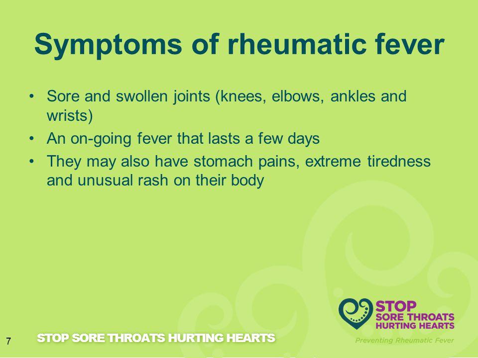 Symptoms of rheumatic fever