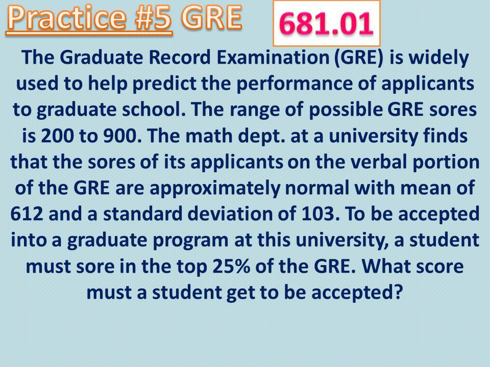Practice #5 GRE 681.01.