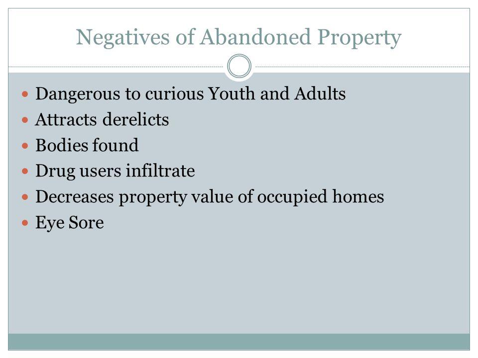 Negatives of Abandoned Property