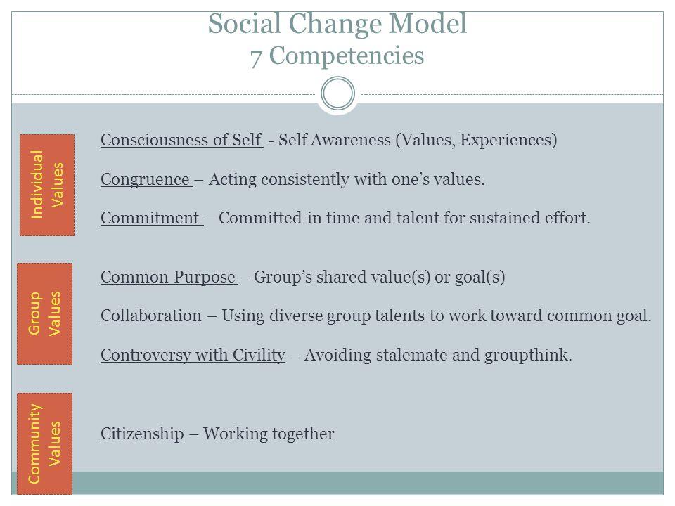 Social Change Model 7 Competencies