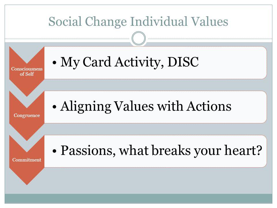 Social Change Individual Values