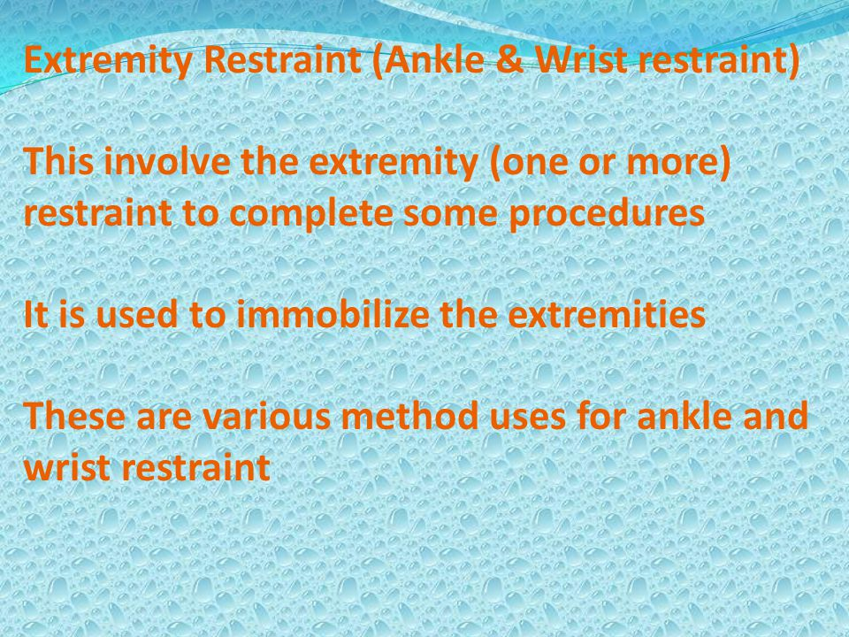 Extremity Restraint (Ankle & Wrist restraint)