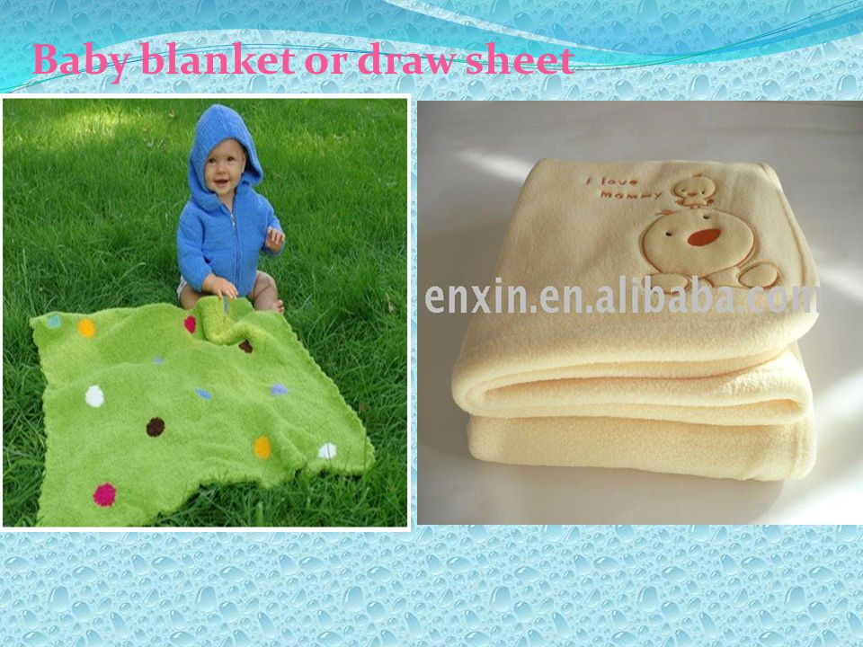Baby blanket or draw sheet