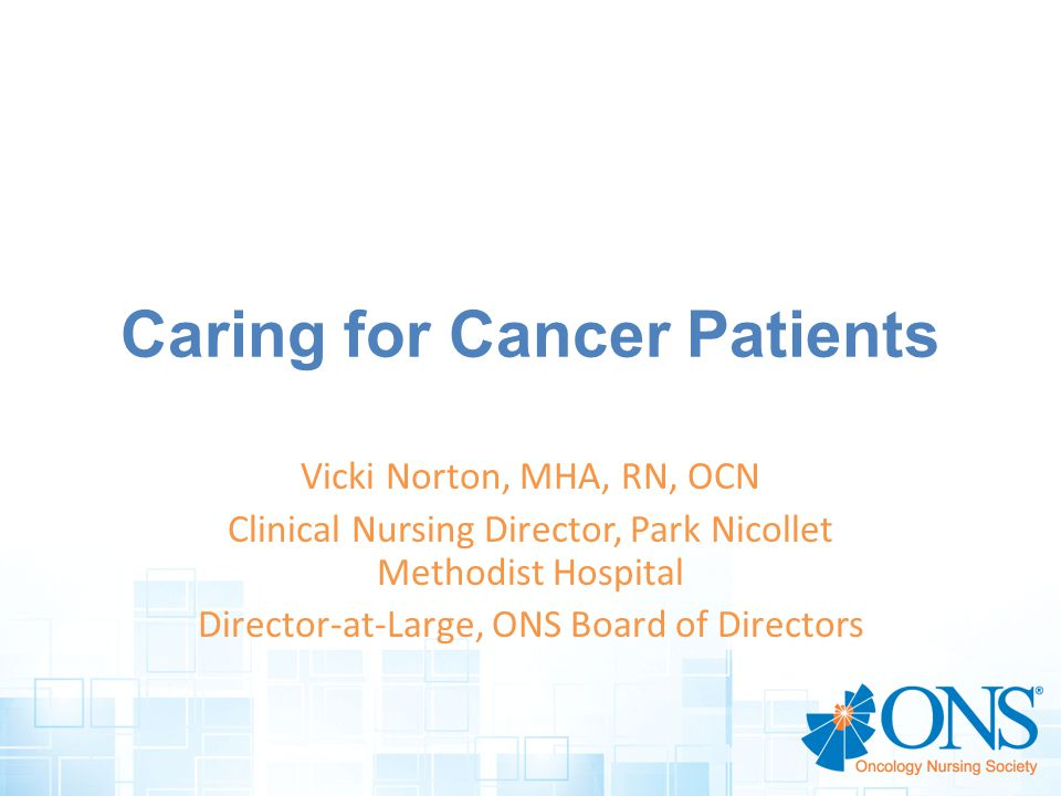 Caring for Cancer Patients
