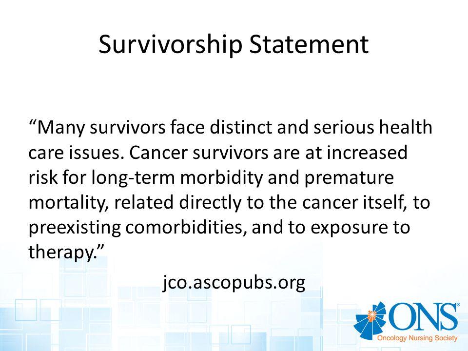 Survivorship Statement