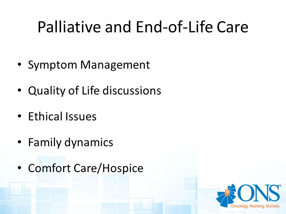 Palliative and End-of-Life Care