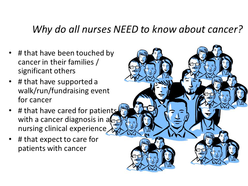 Why do all nurses NEED to know about cancer