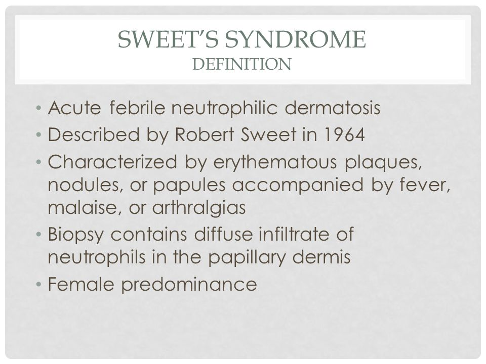 Sweet's Syndrome Definition