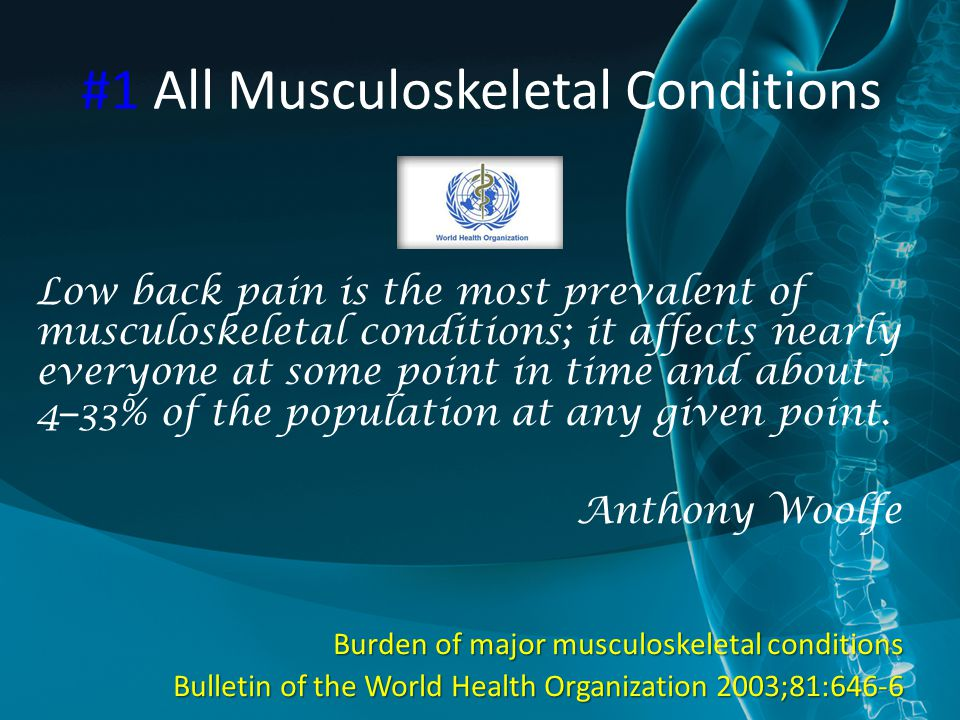 #1 All Musculoskeletal Conditions