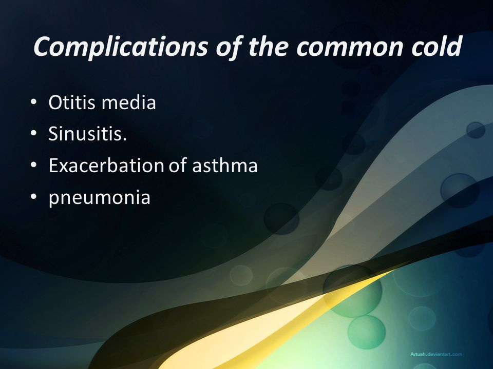 Complications of the common cold