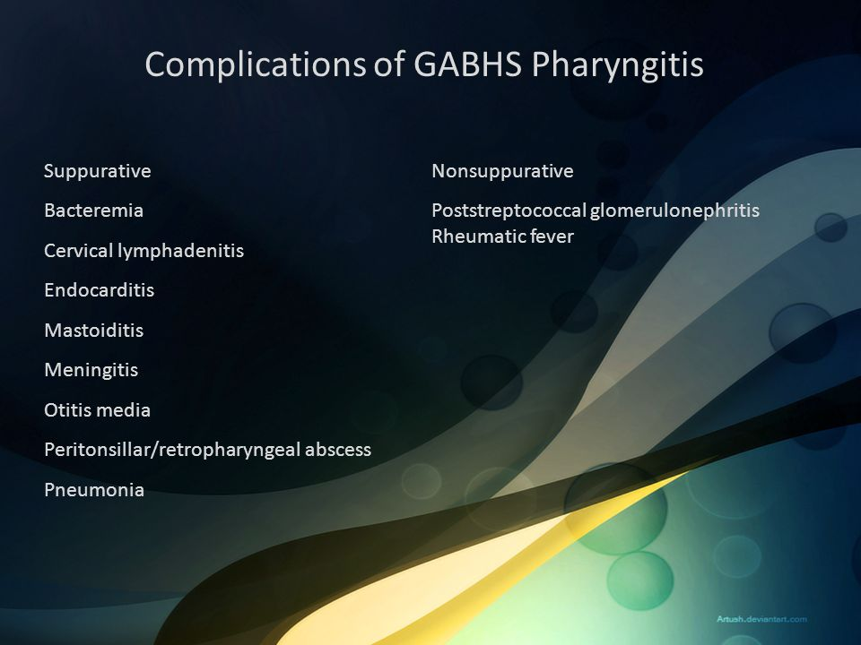 Complications of GABHS Pharyngitis