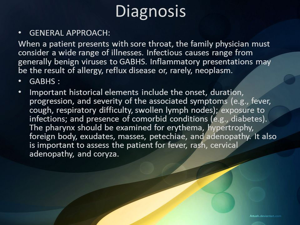 Diagnosis GENERAL APPROACH: