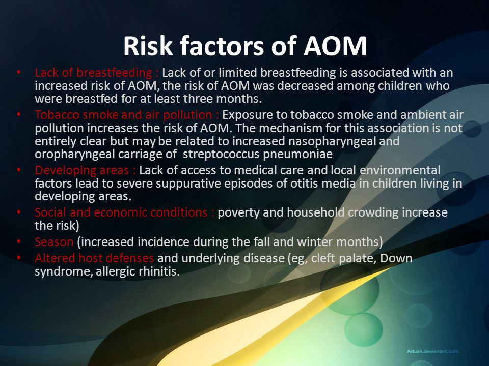 Risk factors of AOM