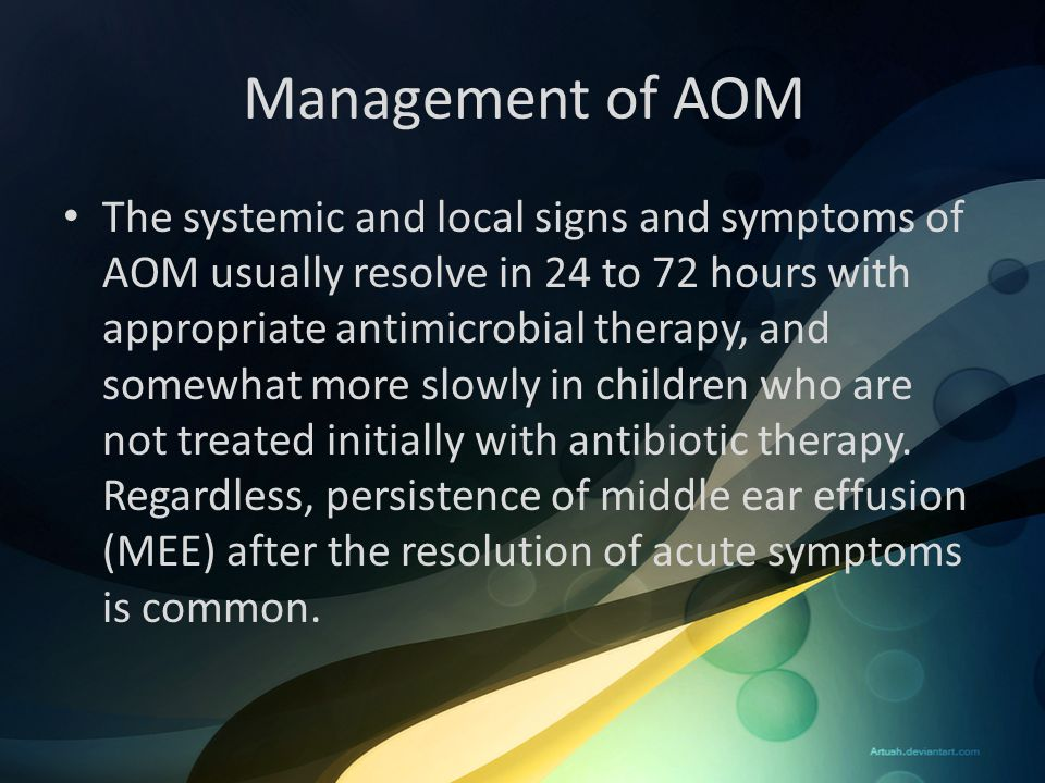 Management of AOM