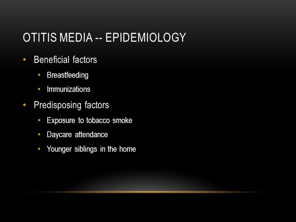 Otitis media -- epidemiology