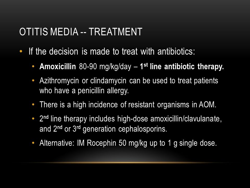 Otitis media -- treatment