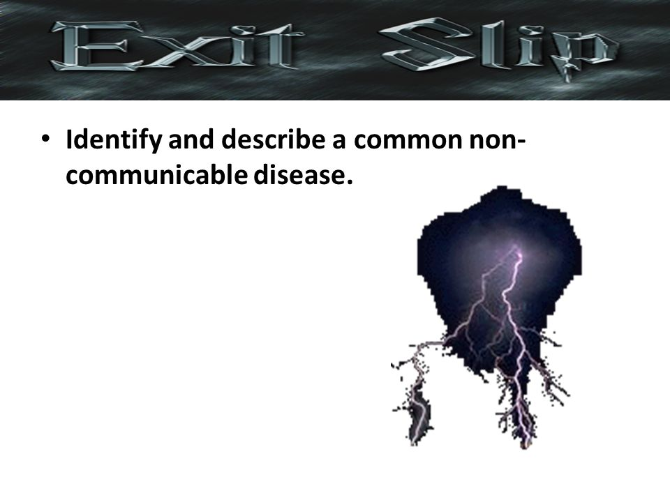 Identify and describe a common non-communicable disease.