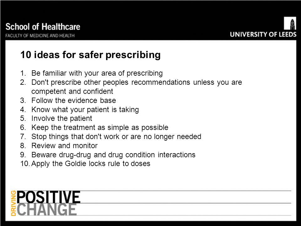 10 ideas for safer prescribing