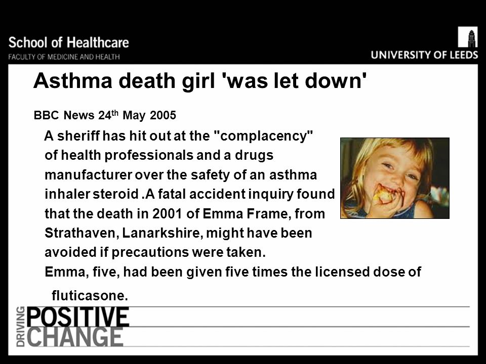 Asthma death girl was let down
