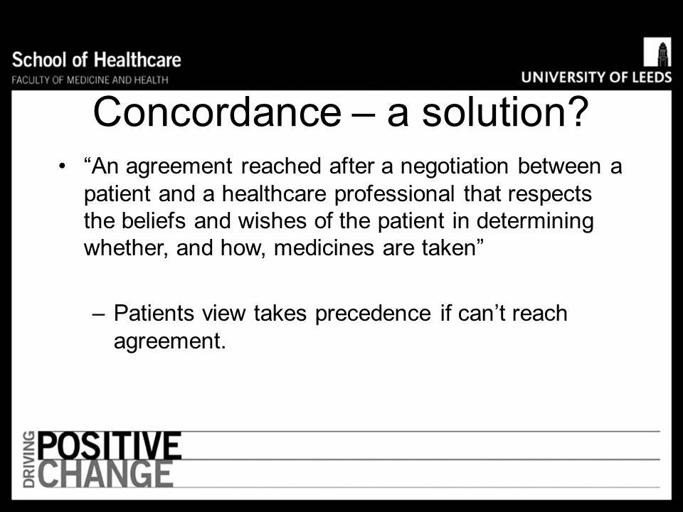 Concordance – a solution