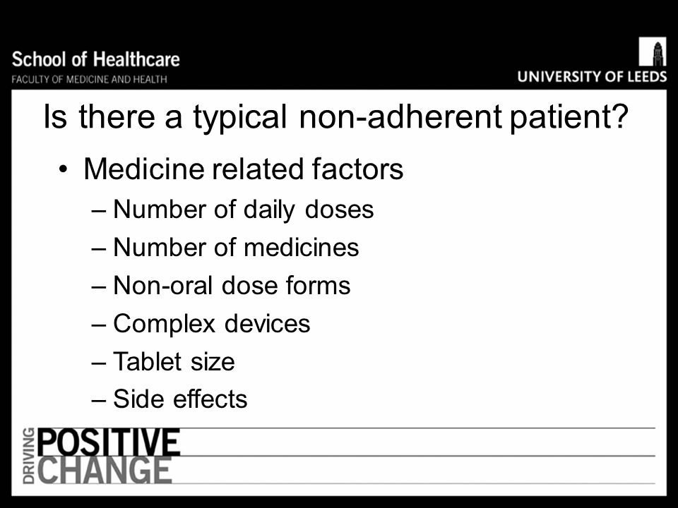 Is there a typical non-adherent patient