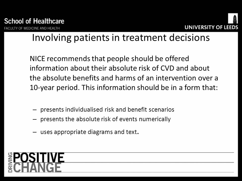 Involving patients in treatment decisions
