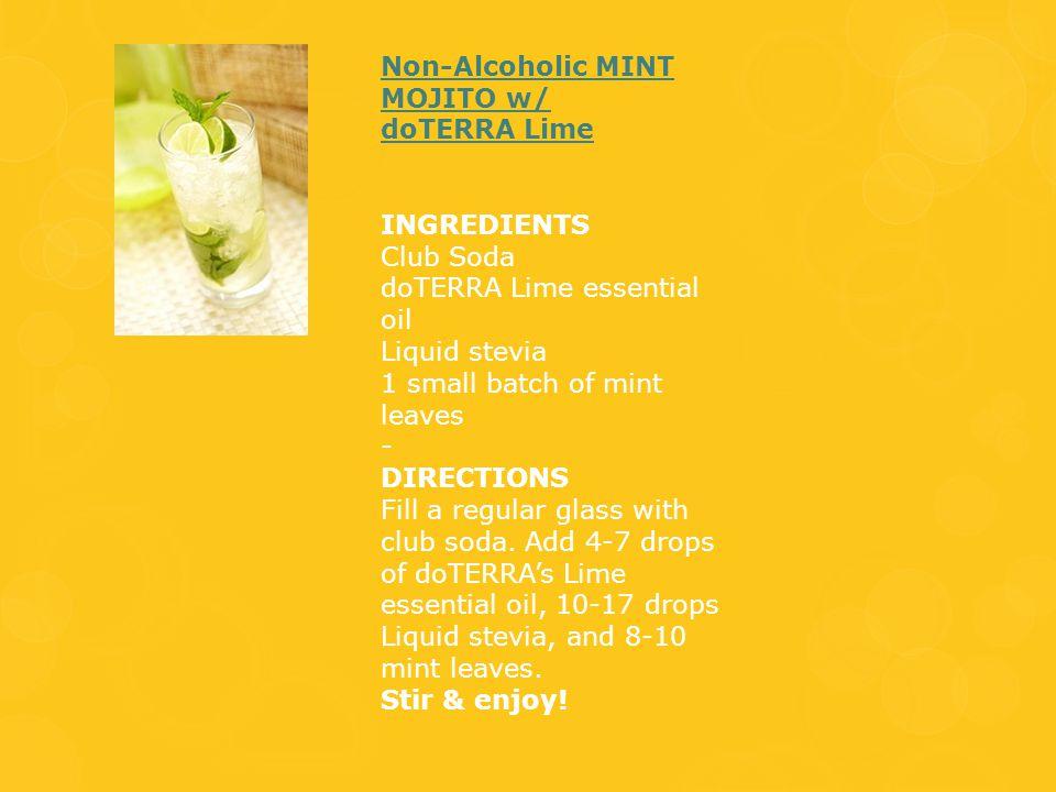 Non-Alcoholic MINT MOJITO w/ doTERRA Lime