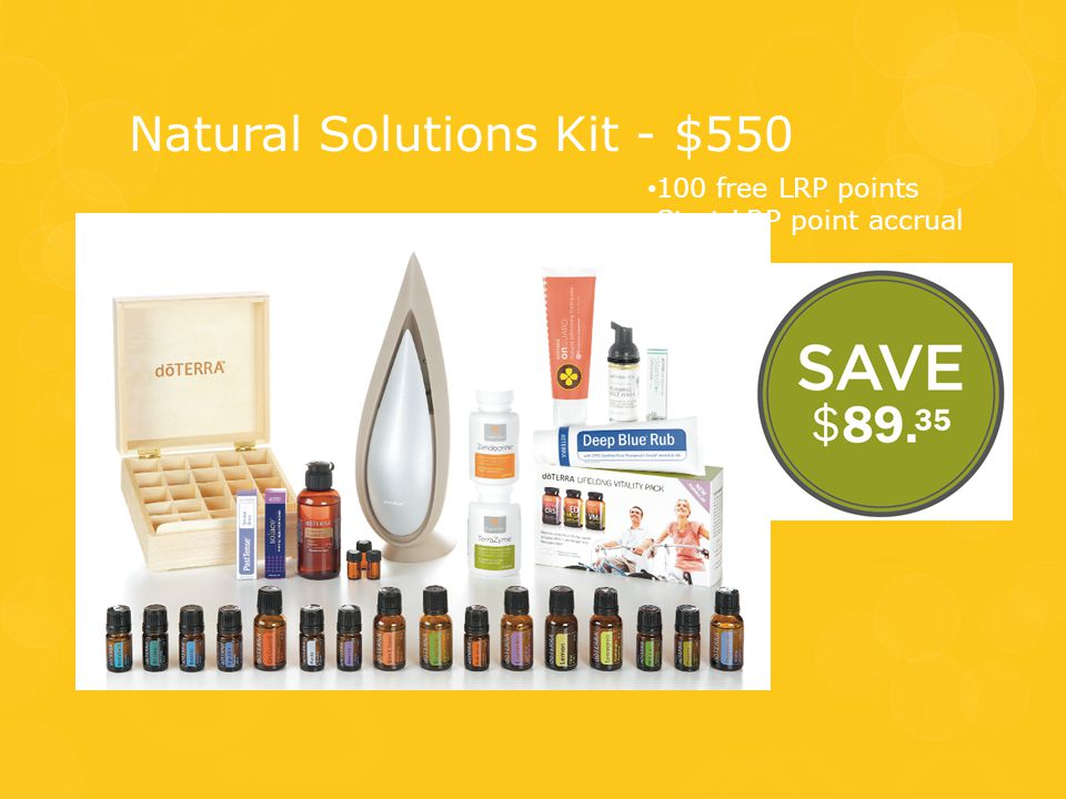 Natural Solutions Kit - $550