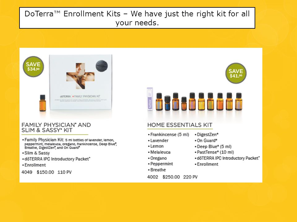 DoTerra™ Enrollment Kits – We have just the right kit for all your needs.