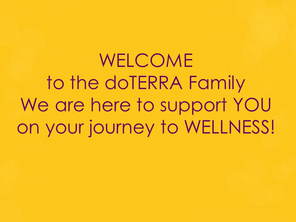 We are here to support YOU on your journey to WELLNESS!