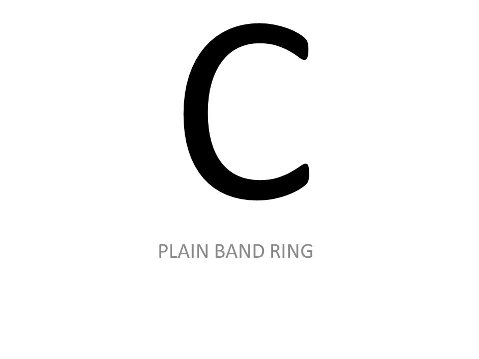 C PLAIN BAND RING