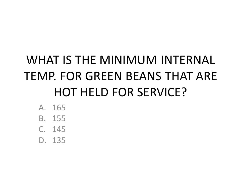 WHAT IS THE MINIMUM INTERNAL TEMP