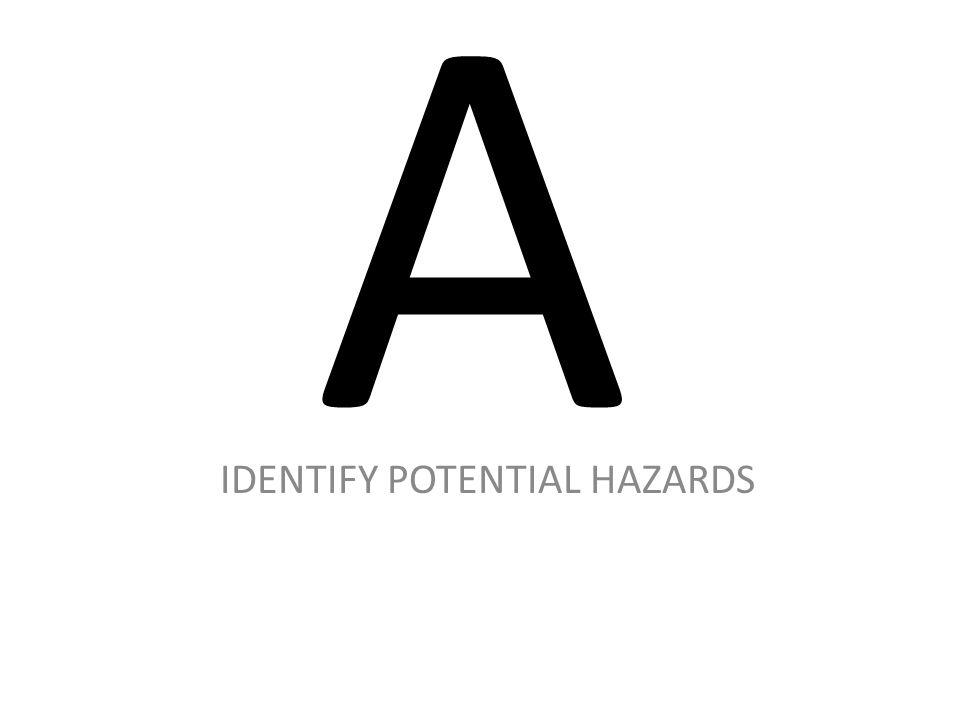 IDENTIFY POTENTIAL HAZARDS
