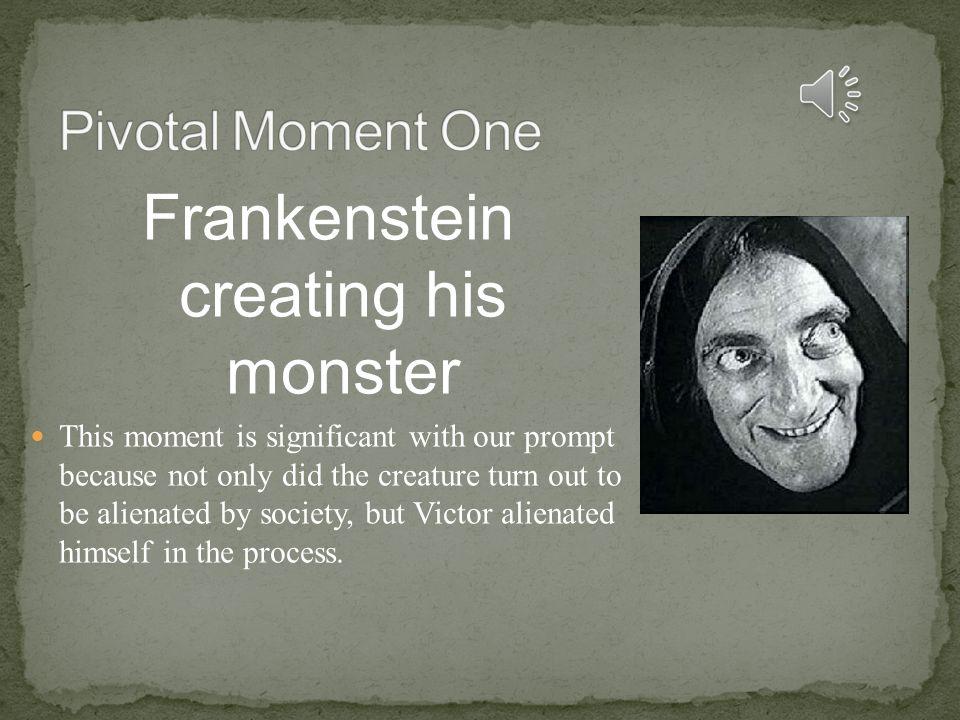 Frankenstein creating his monster