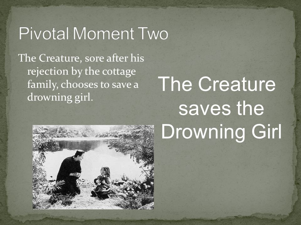 The Creature saves the Drowning Girl