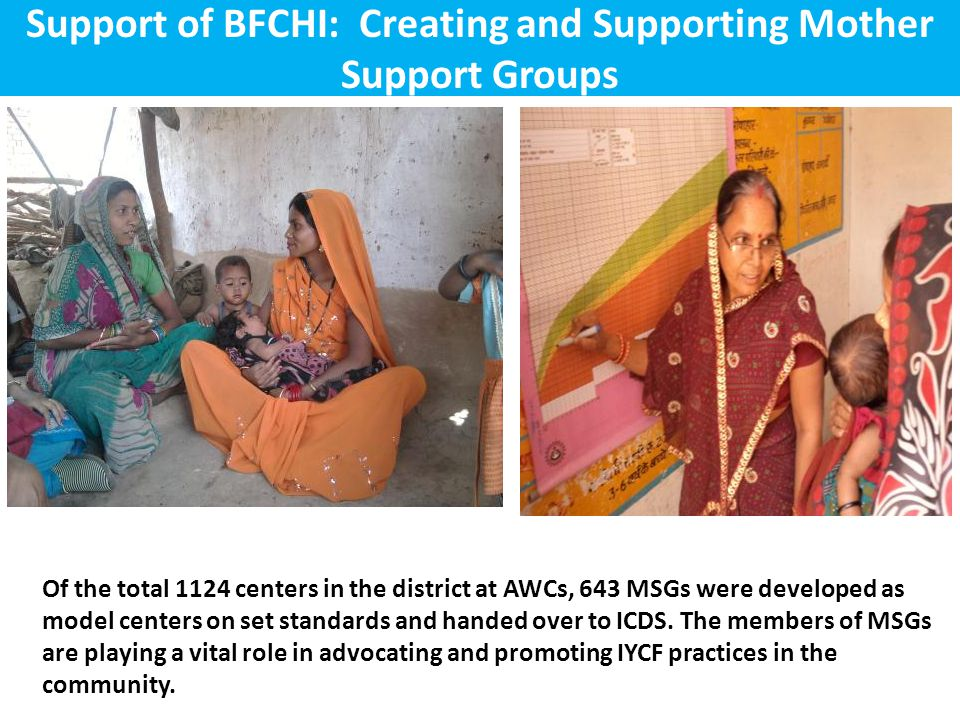 Support of BFCHI: Creating and Supporting Mother Support Groups