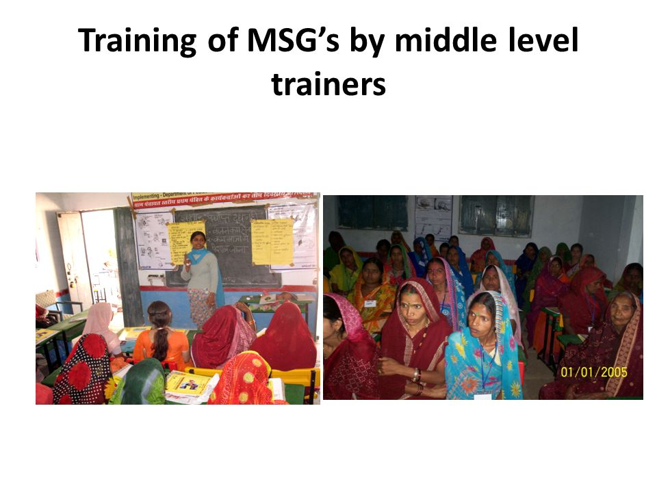 Training of MSG's by middle level trainers