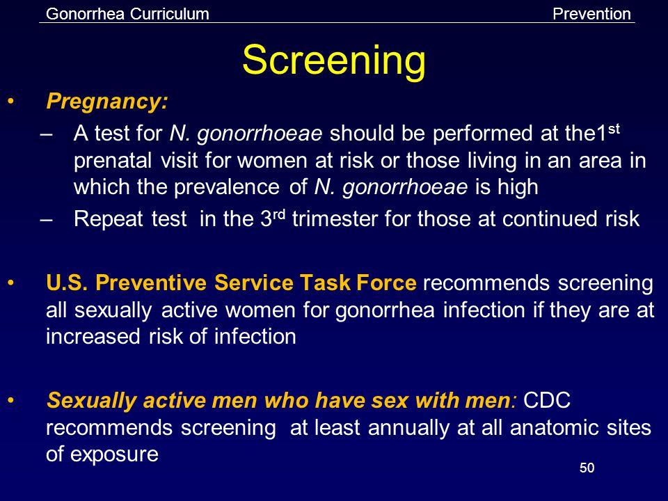 Prevention Screening. Pregnancy: