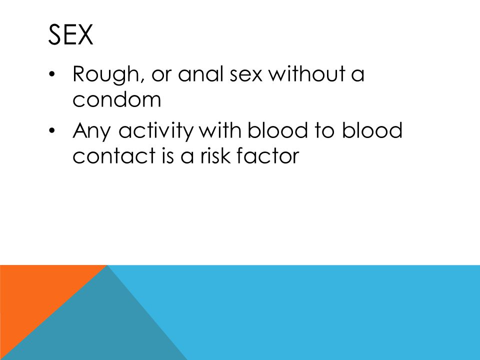 Sex Rough, or anal sex without a condom