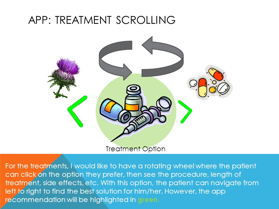 APP: Treatment scrolling