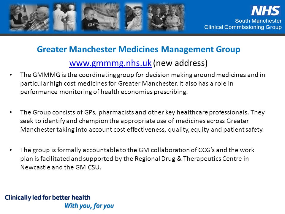 Greater Manchester Medicines Management Group