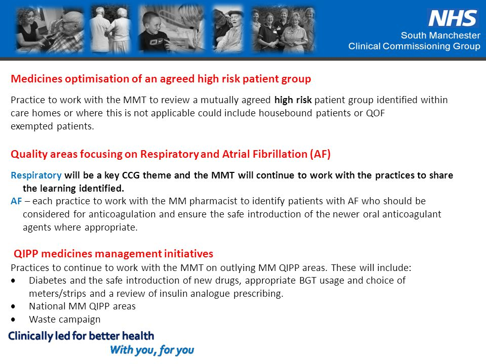 Medicines optimisation of an agreed high risk patient group