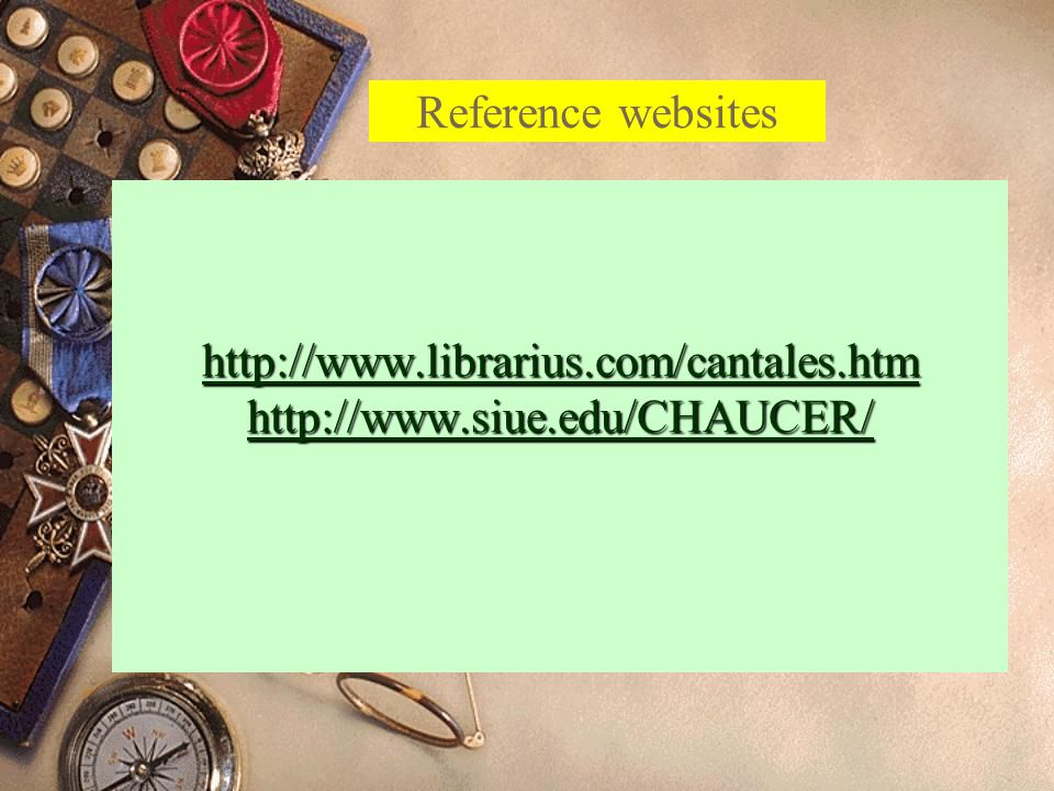 http://www.librarius.com/cantales.htm http://www.siue.edu/CHAUCER/