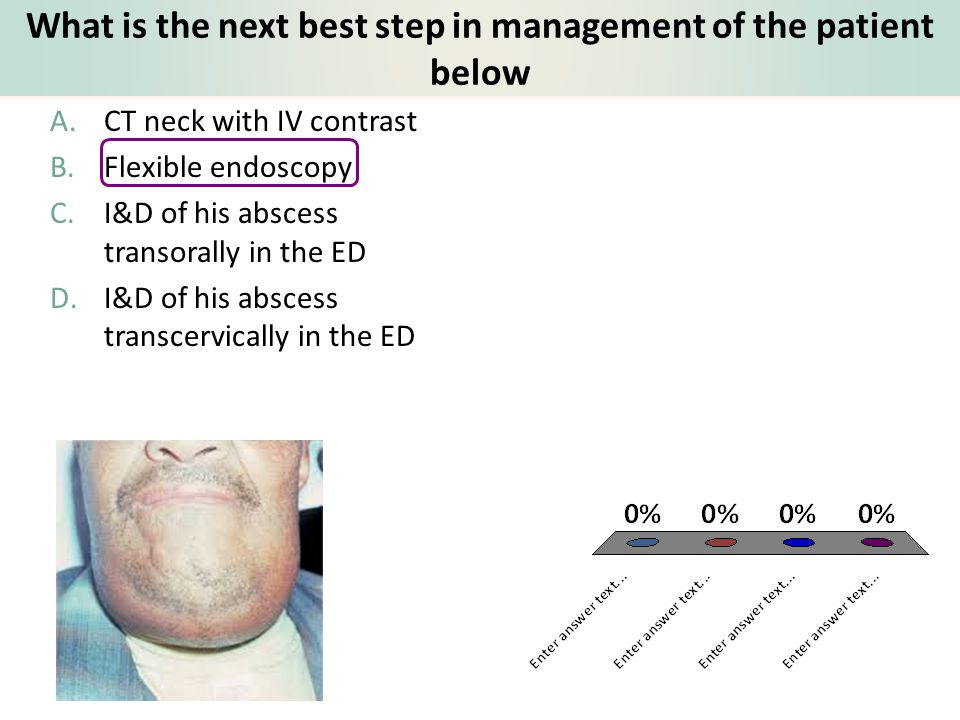 What is the next best step in management of the patient below