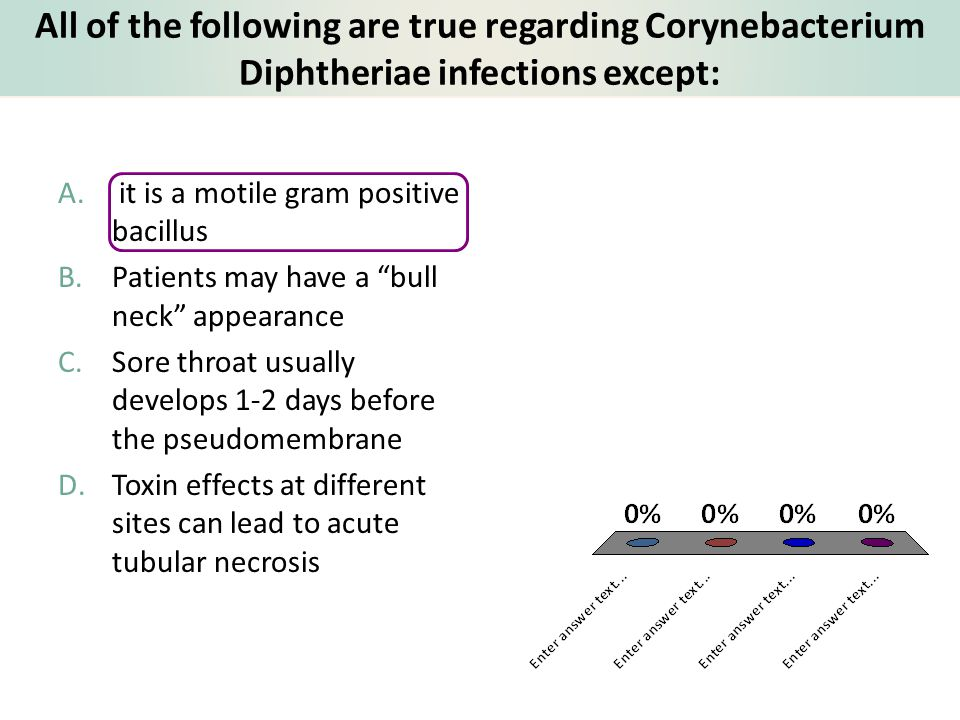 All of the following are true regarding Corynebacterium Diphtheriae infections except: