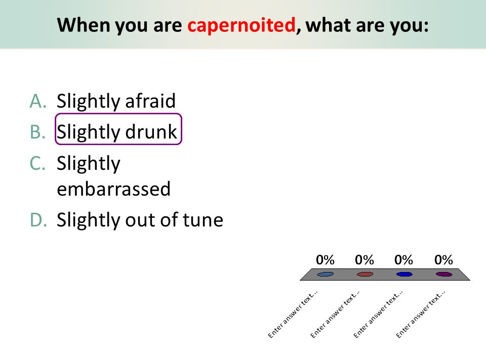 When you are capernoited, what are you: